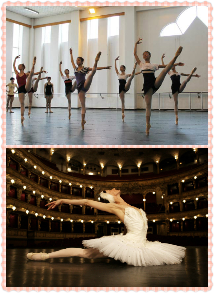 ballet class and stage